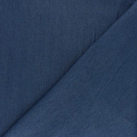 Lurex Viscose voile fabric - denim blue Platinium x 10cm