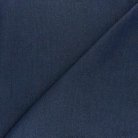 Tissu lyocell aspect jean argenté - bleu foncé x 10cm