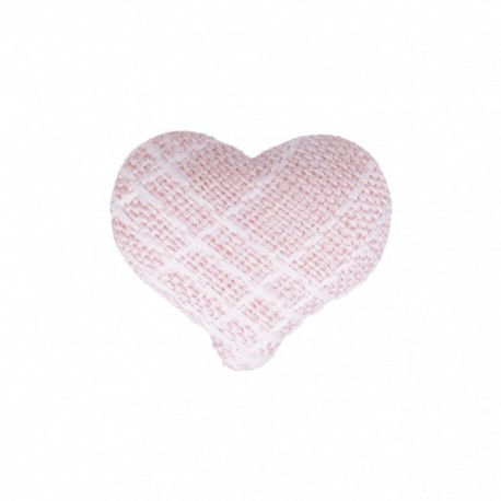 Heart Fabric Covered Button - Mily Pink