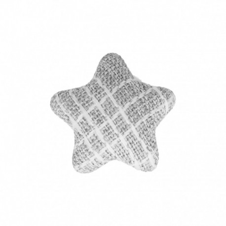 Bouton Étoile en Tissu Mily - Gris