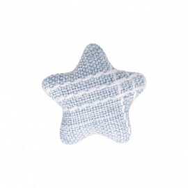 Star Fabric Covered Button - Mily Sky Blue