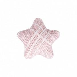 Bouton Étoile en Tissu Mily - Rose