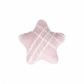 Star Fabric Covered Button - Mily Pink