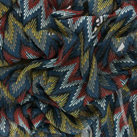 Lurex Muslin fabric - teal blue Misso x 50cm