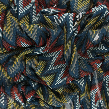 Lurex Muslin fabric - black Misso x 50cm