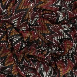 Lurex Muslin fabric - brick red Misso x 50cm