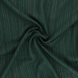 Lurex Viscose voile fabric - khaki green Folie's x 10cm