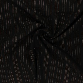 Tissu voile de viscose Lurex Folie's - kaki x 10cm