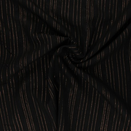 Lurex Viscose voile fabric - khaki green Folie's x 10cm