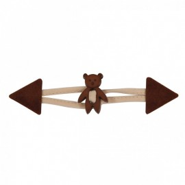 Suede Toggle Duffle Coat for children - Teddy chocolate