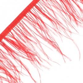 Galon Plumes d'Autruche Rio 14 cm - Rouge x 50cm