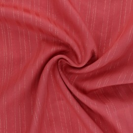 Lurex Viscose voile fabric - Hazelnut Folie's x 10cm