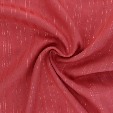 Lurex Viscose voile fabric - Hazelnut Folie's x 10cm
