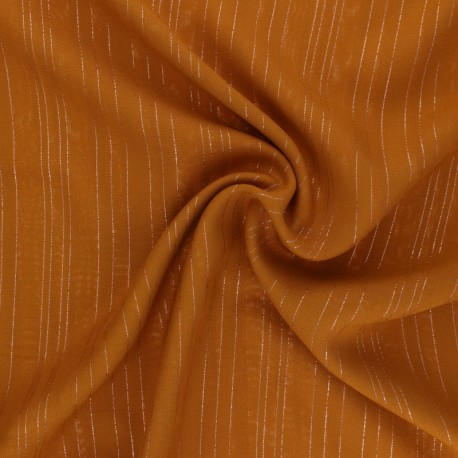 Tissu voile de viscose Lurex Folie's - Corail x 10cm