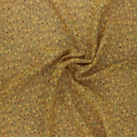 Tissu Mousseline lurex Eclat d'automne - moutarde x 50cm