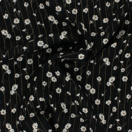 Lurex Viscose fabric - black Cerano x 10cm