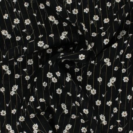 Tissu viscose Lurex Cerano - Safran x 10cm