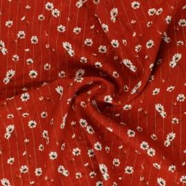Tissu viscose Lurex Cerano - Tomette x 10cm