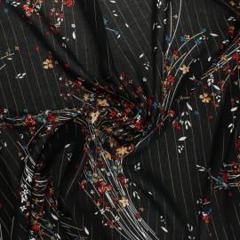 Tissu viscose Lurex Cerano - noir x 10cm