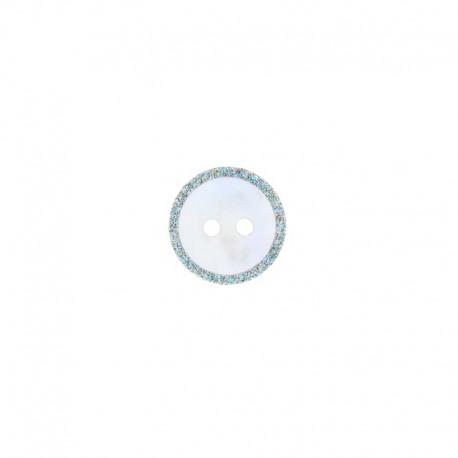 Bouton Nacre Glitter 14 mm - Multi