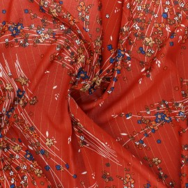 Lurex Viscose fabric - brick red Monza x 10cm