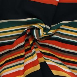 Tissu viscose rayé Tiana - noir x 10cm