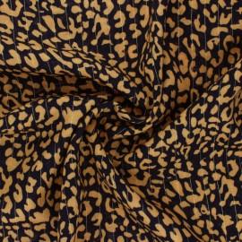 Lurex Viscose fabric - mustard yellow Rimini x 10cm