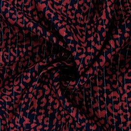 Lurex Viscose fabric - red Rimini x 10cm