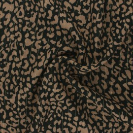 Lurex Viscose fabric - coffee brown Rimini x 10cm