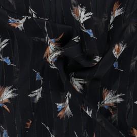 Tissu Mousseline lurex Casablanca - noir x 50cm
