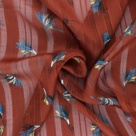 Lurex Muslin fabric - teal blue Casablanca x 50cm