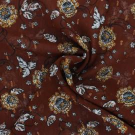 Tissu Mousseline plumetis lurex Vérone - noisette x 50cm