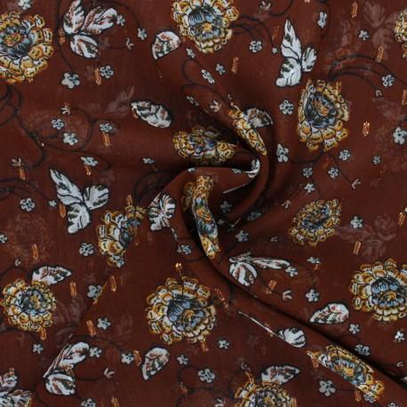 Tissu Mousseline plumetis lurex Vérone - noir x 50cm