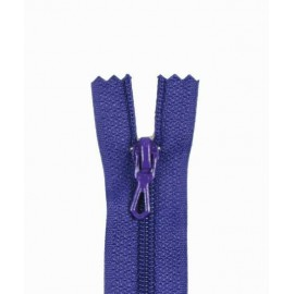 Closed bottom zipper - blueberry