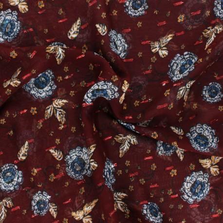 Lurex Muslin fabric - Hazelnut Vérone x 50cm