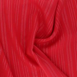 Tissu voile de viscose Lurex Folie's - rouge x 10cm
