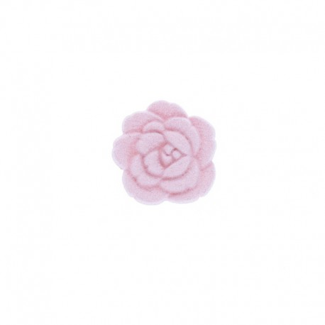 15 mm Polyester Button - Pink Wild Rose