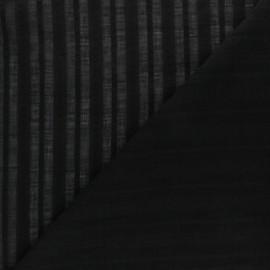 Tissu Voile de coton Cécilia - noir x 10cm
