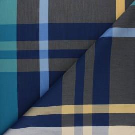 Tissu popeline Chemise Stretch Robertin - bleu x 10cm