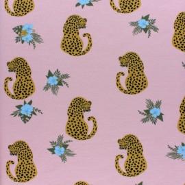 ♥ Coupon 50 cm X 150 cm ♥ Sweatshirt fabric - Pink Alma