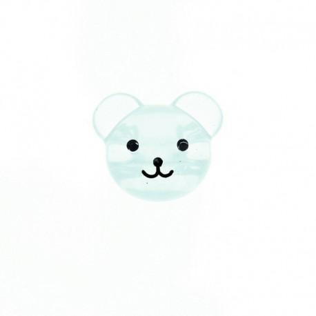 Bouton Polyester Baby Bear 22 mm - Vert d'eau