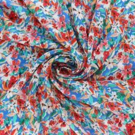Tissu viscose Géraldine - bleu x 10cm