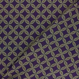 Tissu viscose Mamitha - violet x 10cm