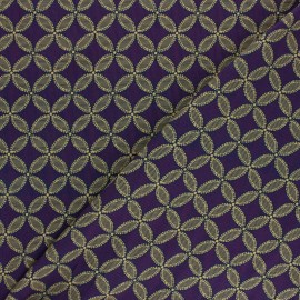 viscose Fabric - Purple Mamitha x 10cm