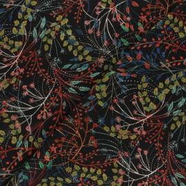 Tissu viscose Jardin Bohème - noir x 10cm