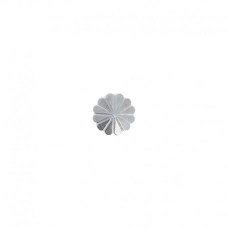 Metal Button - Silver Shell