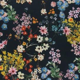 viscose Fabric - Black Bohemian Garden x 10cm