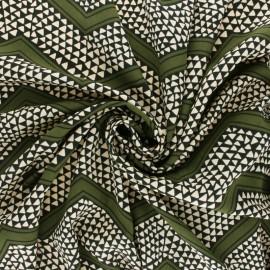 Tissu crêpe Sanaba - vert x 10cm