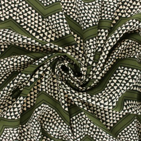 Crepe fabric - Ink blue Flowerfield x 10cm