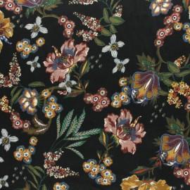 Tissu viscose Jardin St Vincent - noir x 10cm